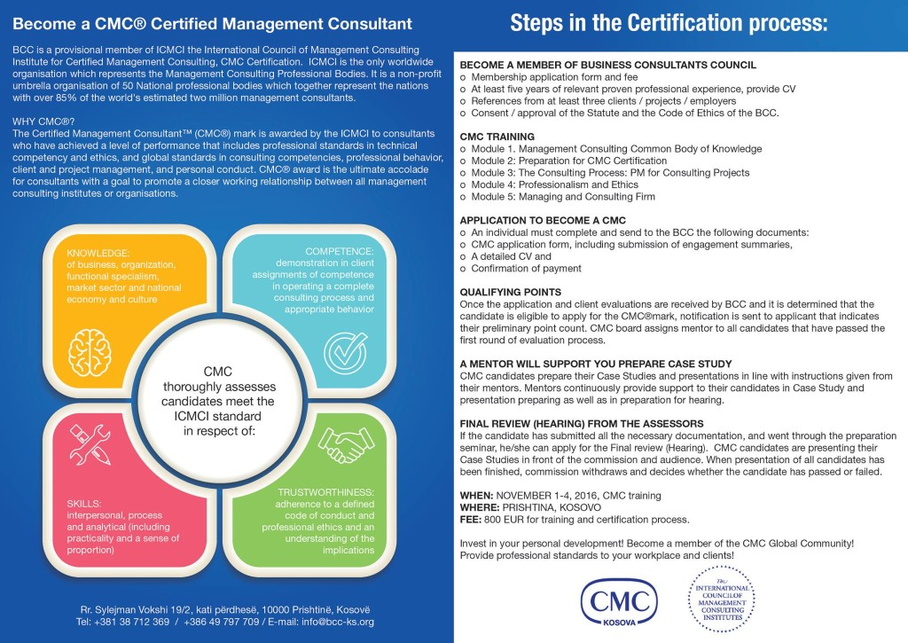 CMC Certification Process